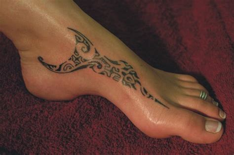 awesome tribal foot tattoos