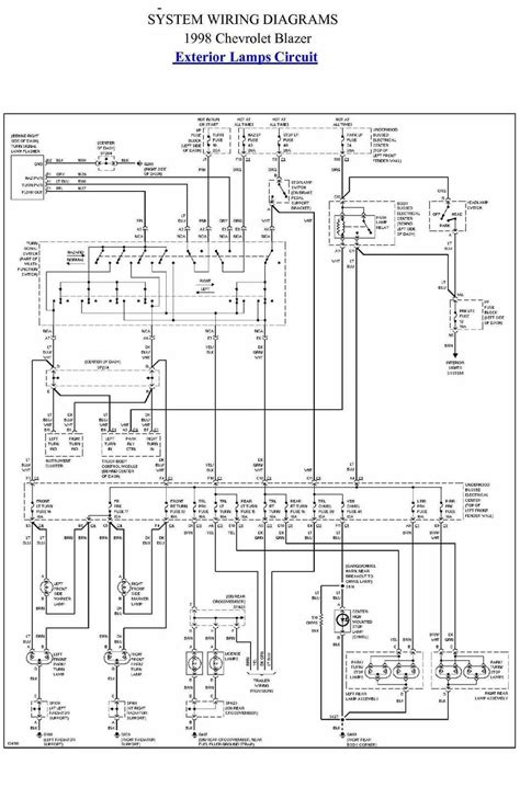 Exterior Lamp Circuit Diagram Chevrolet Blazer
