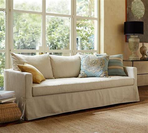 pottery barn sofa pottery barn slipcovered sofa with bench cushion