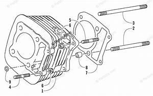 Arctic Cat Atv 2001 Oem Parts Diagram For Cylinder