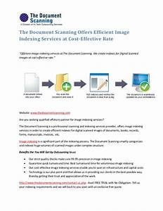 The document scanning offers efficient image indexing for Document scanning services cost
