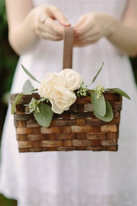 cutest flower girl baskets  etsy junebug weddings