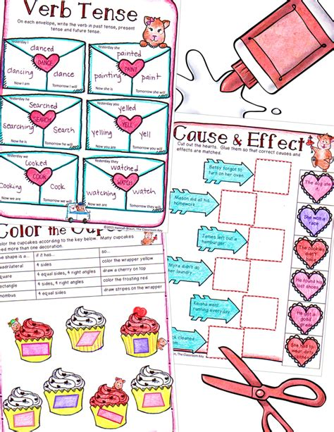 valentine s packet 3rd the classroom key