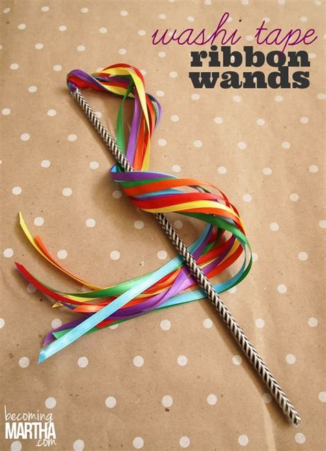 satin ribbon craft ideas diy washi ribbon wands washi crafts 5364