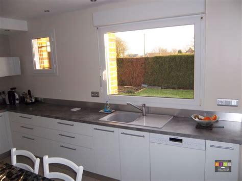 modele de cuisine blanche cuisine blanche plan de travail gris collection avec