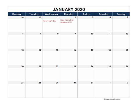 uk calendar spreadsheet template  printable