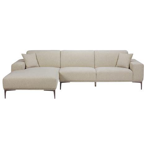 canape d angle maison du monde canapé d 39 angle gauche 5 places en tissu gris clair chiné