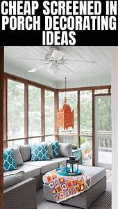 Simple, And, Cheap, Screened, In, Porch, Decorating, Ideas