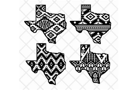 library  aztec pattern black  white library png files clipart art