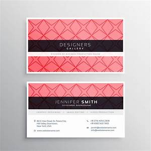 Pink business card template with shapes vector free download for Pink business card template