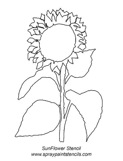 sunflower template printable stencils for black paws trials ireland