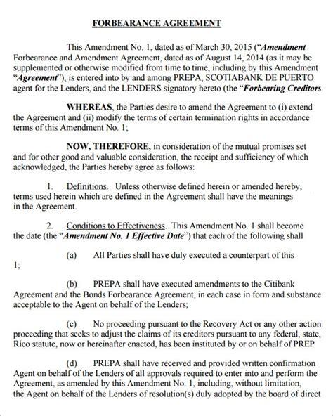 sample forbearance agreement templates  google