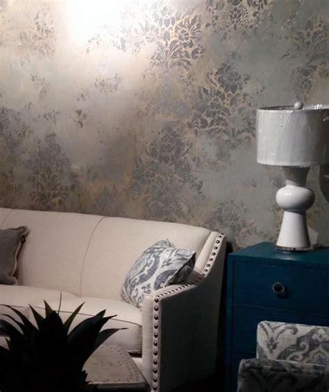 urban  stenciled plastered walls  decorative painter