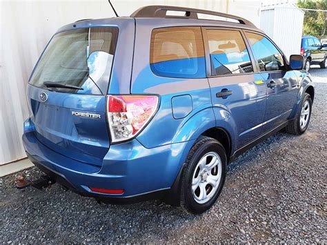 subaru forester  wagon  blue  vehicle sales