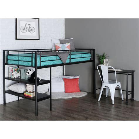 loft beds for with desk black loft bed with desk and shelves bunk beds