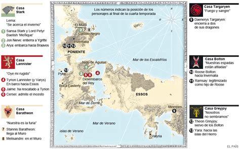 El Mapa De Juego De Tronos
