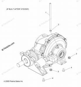 Polaris Side By Side 2007 Oem Parts Diagram For Gearcase  Mounting  Rear