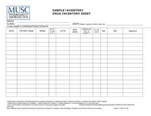 Medication Inventory Log Sheet Template