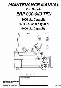 Yale Electric Forklift Truck Erp030tfn  Erp035tfn