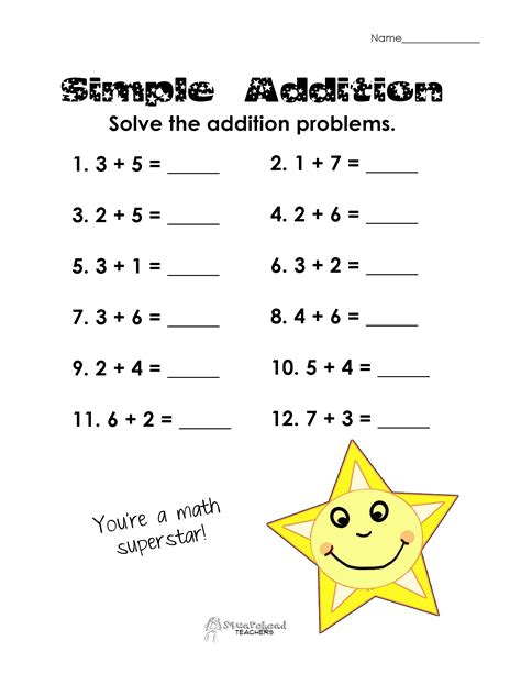simple addition worksheet grade simple addition practice free worksheet squarehead