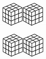 Coloring Cube Rubiks Template Rubik Popular sketch template