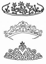 Coloring Crown Princess Pages Tiara Queen Royal Drawing Printable King Template Pretty Jewels Netart Crowns Pencil Sketch Cool Getdrawings Colouring sketch template