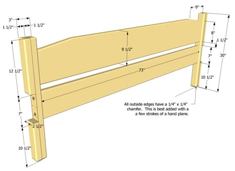 woodwork wood king headboard plans projects  garage