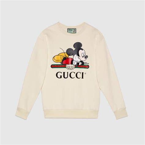 white disney gucci oversize sweatshirt gucci
