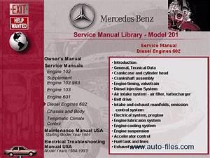 Mercedes W201  Repair Manuals Download  Wiring Diagram  Electronic Parts Catalog  Epc