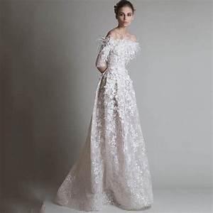 hufaydrss ivory satin applique haute couture dresses a With robe de soirée haute couture