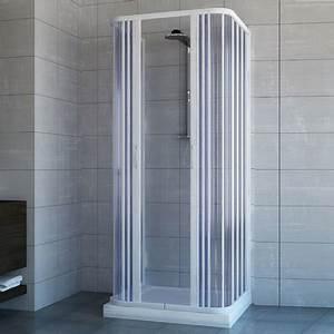 Cabine Douche 3 Parois Vitrées : cabine paroi de douche 3 c t s en plastique pvc mod ~ Premium-room.com Idées de Décoration