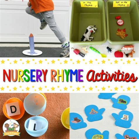 nursery rhymes activities for preschoolers pre k pages 389 | Nursery Rhyme Activities