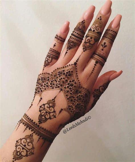 henna hand strip design simple  ideas  arabic