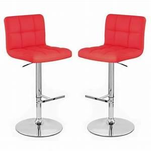 Chaise De Bar Rouge : chaise haute cuisine rouge ~ Teatrodelosmanantiales.com Idées de Décoration