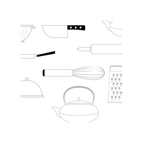 fond blanc cuisine papier scrap à imprimer ustensiles de cuisine gris sur fond blanc
