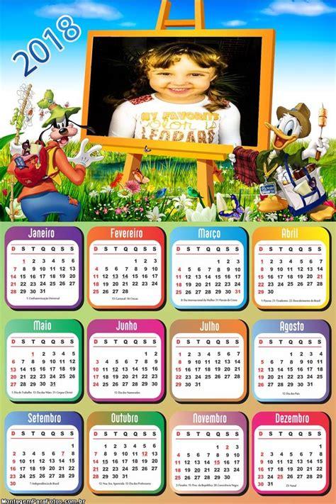 calendario pateta donald pintura quadro montagem fotos