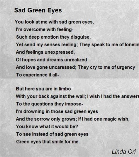 green eyes quotes poems