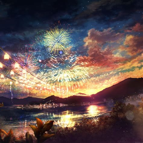 Anime Fireworks Wallpaper Hd by Wallpapers