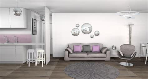 peinture chambre mauve et blanc déco salle a manger et gris
