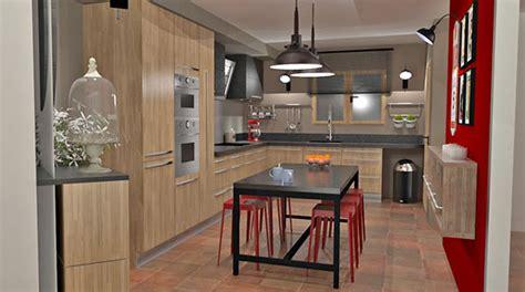 cuisine style industriel bois noir et