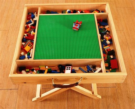 wooden lego compatible play table for lego yenny shop
