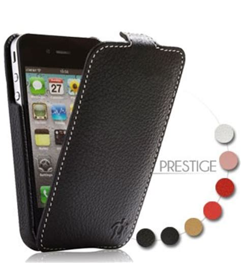 housse iphone 4 cuir luxe etui iphone 4s accessoire apple