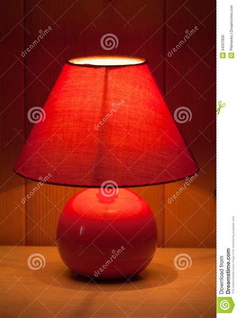 red table lamp royalty  stock image image