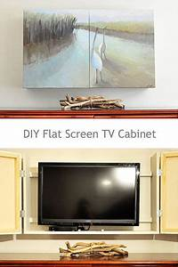 hometalk diy flat screen tv cabinet With what kind of paint to use on kitchen cabinets for photo canvas wall art