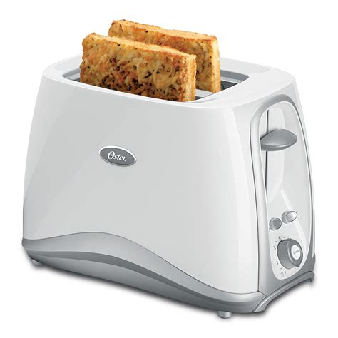 White Toaster by Oster 174 2 Slice Toaster White