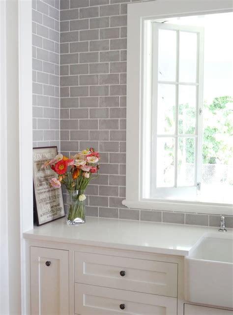 grey subway tile backsplash kitchen 17 best images about laundry in bathroom on 6968