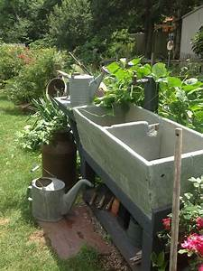 Old, Soapstone, Sink, Handy, To, Garden, For, Potting, And, Watering