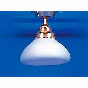 Ceiling light with white shade wired lights el from