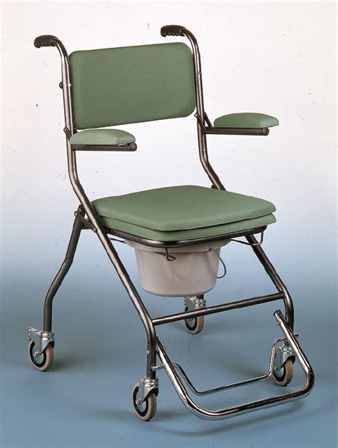 chaise toilette pliante 224 roues vilgo gr192 sofamed