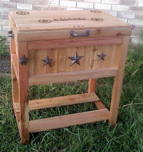 wooden ice chest ideas  pinterest diy cooler ice chest cooler  yeti ice